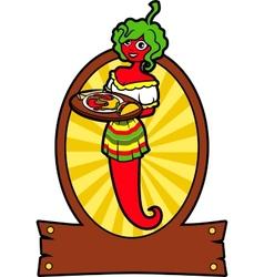Girl Hot Pepper vector image