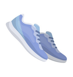 blue sneakers for sports sports shoes gym and vector image