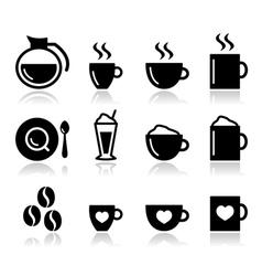 Coffee icon set - vector image vector image