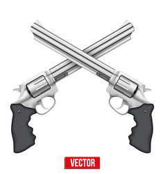 Cross of Revolvers vector image