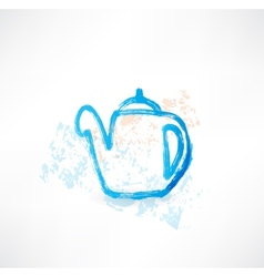 kettle grunge icon vector image