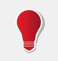 light lamp sign new year reddish icon vector image
