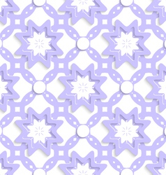 Light purple with stars and dots layered seamless vector image vector image