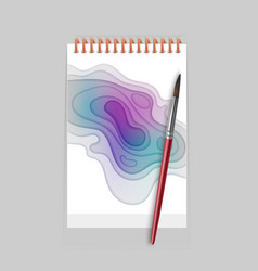 abstract colorful realistic paper cut design with vector image