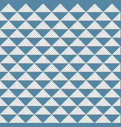 Abstract pattern triangle blue and gray dots vector