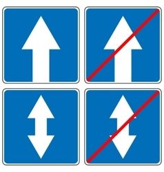 Ahead Only one way traffic sign Drive Straight vector image