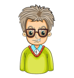 An angry businessman wearing an eyeglass vector