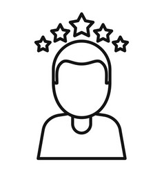 Attestation rating icon outline style vector