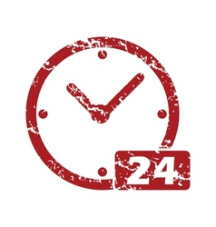 Best red grunge clock logo vector image