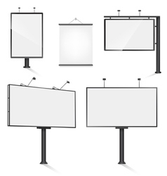 billboard set vector image