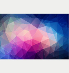 bright color polygonal wallpaper vector image