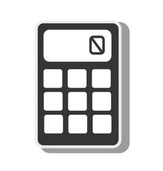 calculator math object economy icon graphic vector image