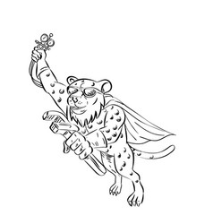 cheetah airconditioning and refrigeration mechanic vector image