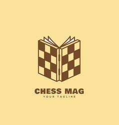 Chess mag logo vector