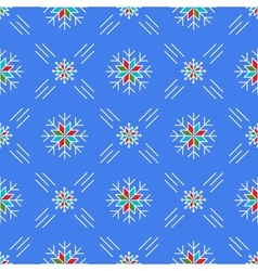 Christmas seamless pattern snowflakes Blue vector image