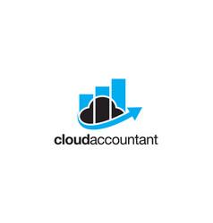 Cloud accountant logo design concept vector