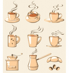 coffee line art vector image