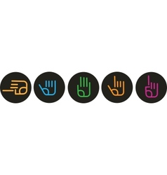 Collection various hand signs vector