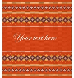 Colorful striped pattern on orange background vector image