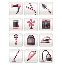 Cosmetic cleaning and heating appliances vector