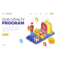 customer loyalty programs banner vector image