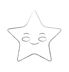 Cute stars kawaii character vector