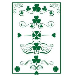 Design vintage green elements for st patricks day vector