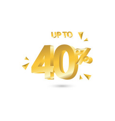 Discount up to 40 template design vector