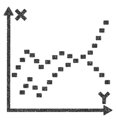 Dotted Functions Plot Grainy Texture Icon vector