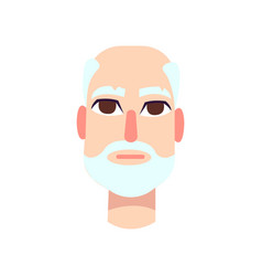 elderly man with big red eyes gray hair and vector image
