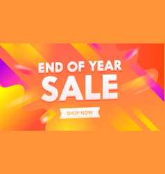 End year sale advertising banner vector