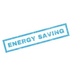 Energy Saving Rubber Stamp vector
