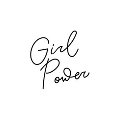 Girl power shirt quote lettering vector