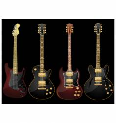 Glossy guitars vector