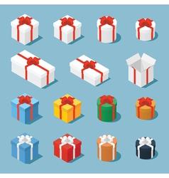 Isometric gift boxe vector image