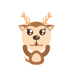Kawaii deer animal toy vector