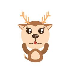 kawaii deer animal toy vector image