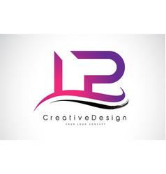 Lp l p letter logo design creative icon modern vector