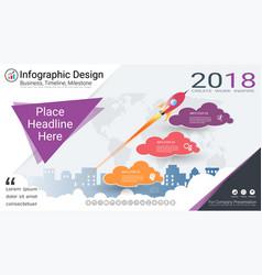 milestone timeline infographics template vector image