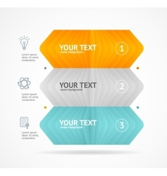 Option banner infographic concept vector image