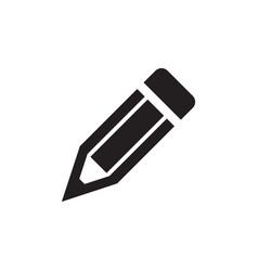 Pencil - black icon on white background vector
