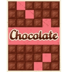 Poster with chocolate bar in retro style vector