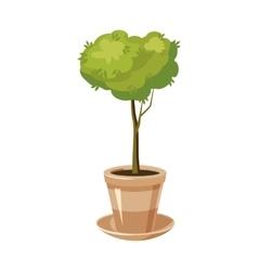 Pot tree icon cartoon style vector