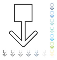 Pull down icon vector