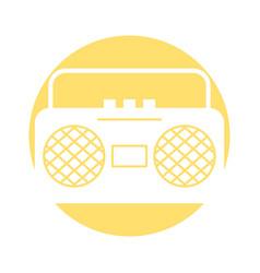 radio music player icon vector image
