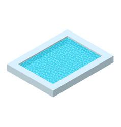 Realistic rectangular pool isometric vector