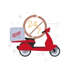 Red motorcyle icon Delivery and Shipping vector