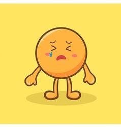 Sad Orange Mascot vector