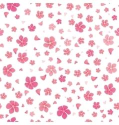 Sakura Flowers Isolated on White Seamless Pattern vector