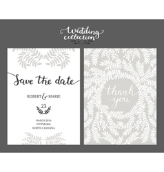 Save the date card wedding invitation vector